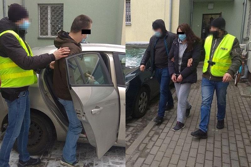 Policjanci zatrzymali 30-latkę i jej 33-letniego partnera | fot. KPP Biała Podlaska