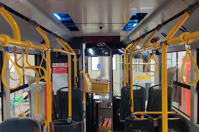 System dezynfekcji promieniowaniem UV-C zamontowany w autobusach MPK Lublin
