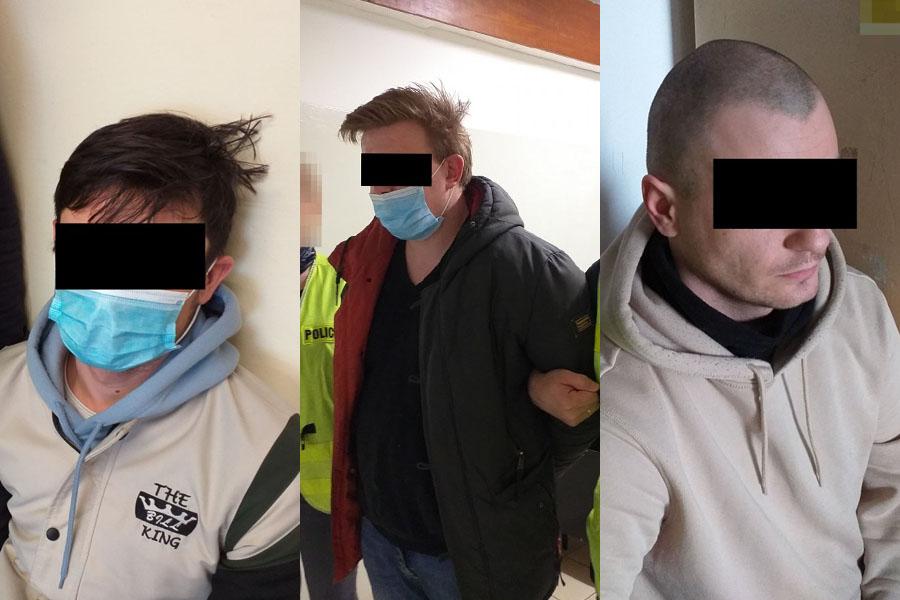 Sprawcy kradzieży audi należącego do 22-latka z rękach policji   fot. KMP Lublin