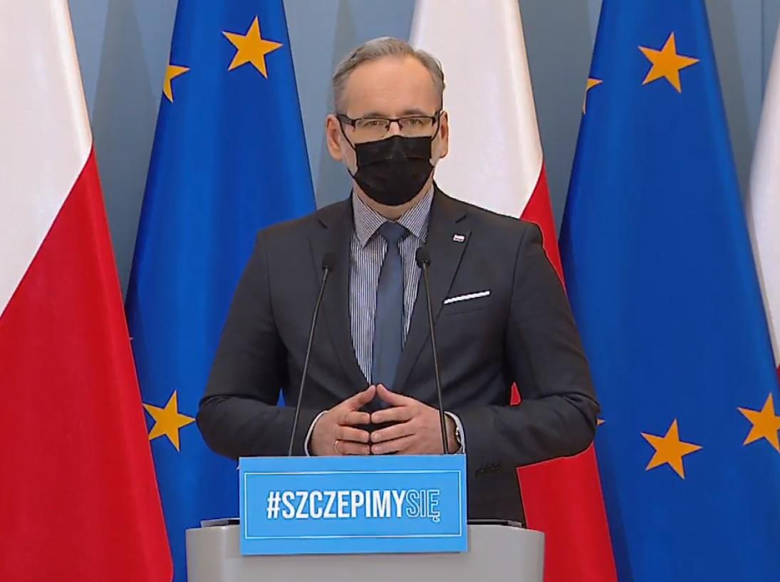Konferencja prasowa ministra zdrowia Adama Niedzielskiego, 25.03.2021