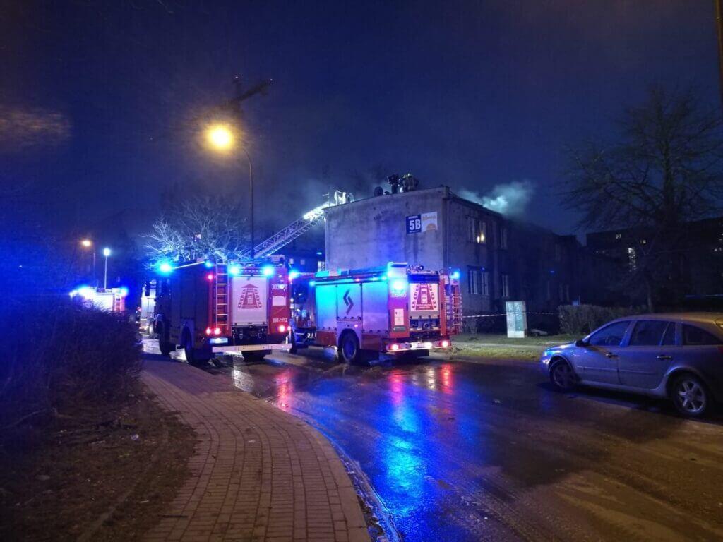 Pożar budynku mieszkalnego przy ul. Wrońskiej 5B w Lublinie | fot. KM PSP Lublin