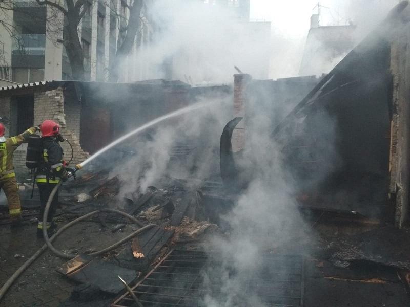Pożar garażu przy ul. 3 Maja w Lublinie