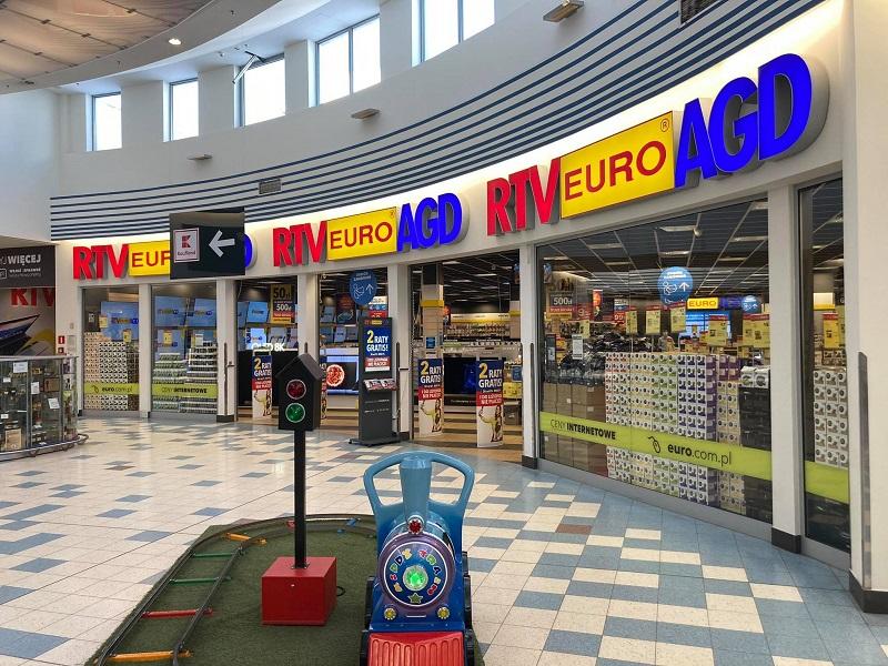 Sklep RTV Euro AGD przy ul. Orkana otwarty mimo obostrzeń