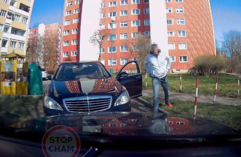 Agresywny kierowca mercedesa na ul. Okrzei w Lublinie