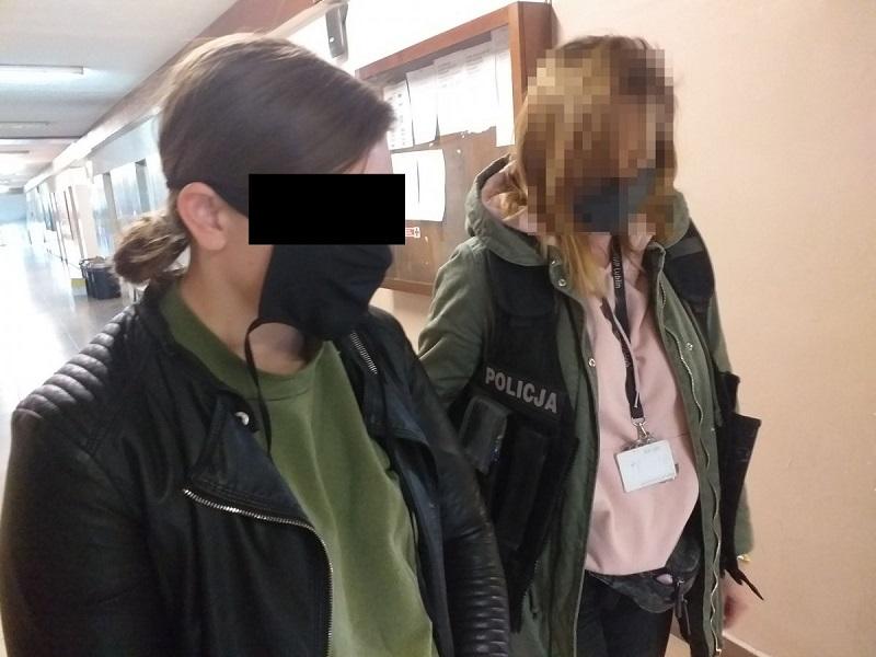 Fałszywa policjantka w rękach prawdziwych policjantów
