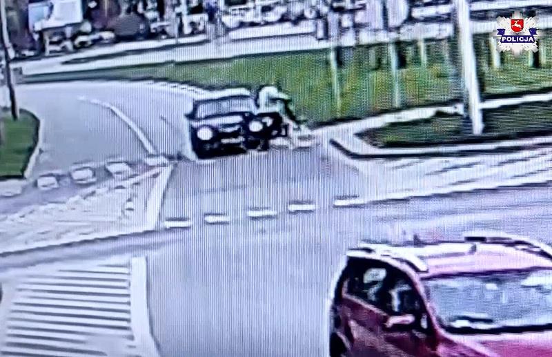 Potrącił rowerzystę i uciekł z miejsca wypadku w Świdniku