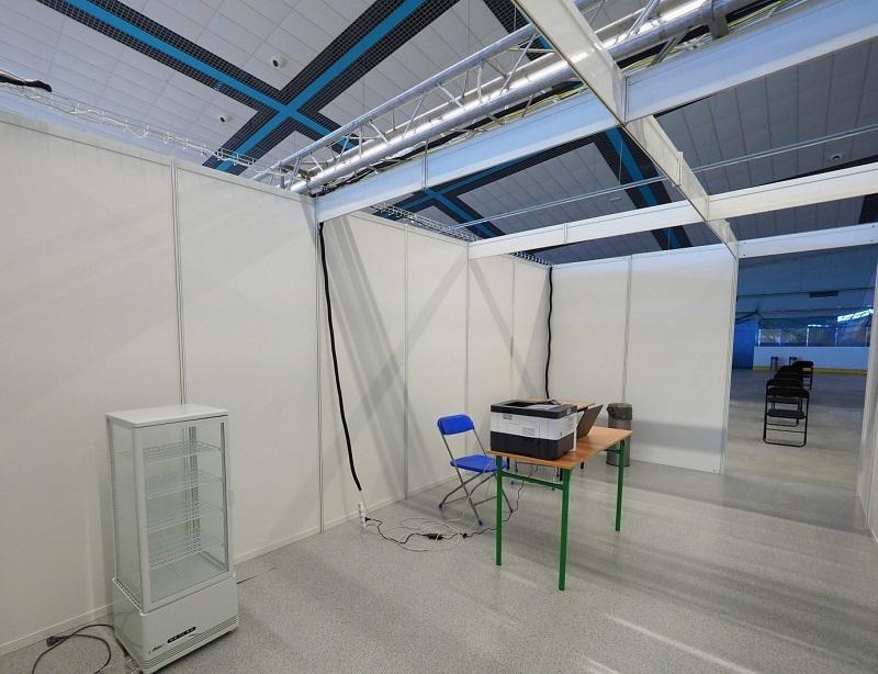 Punkt szczepień powszechnych zlokalizowany w hali Icemania