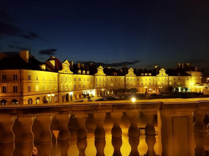 Efekt PO wymianą oświetlenia na pl. Zamkowym