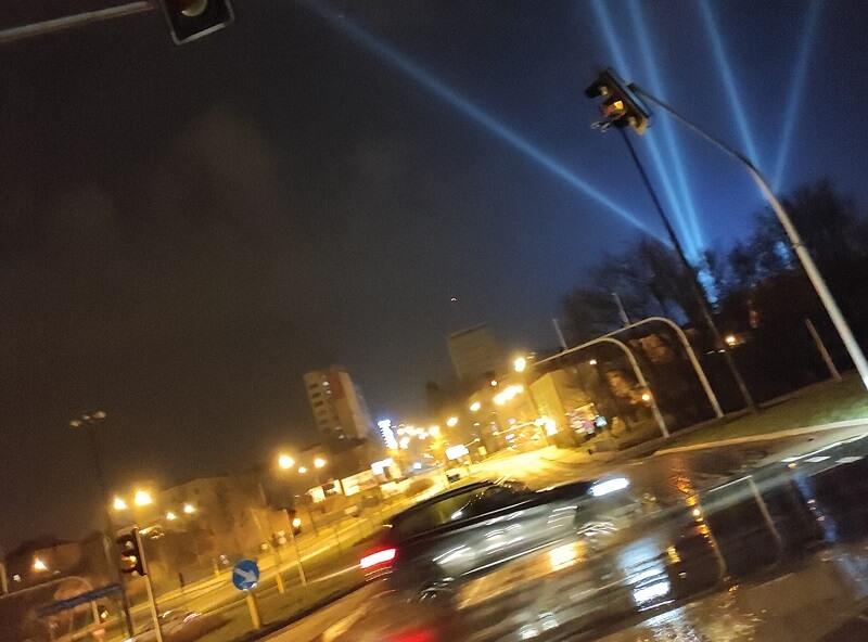 Tajemnicze światła na niebie nad Lublinem
