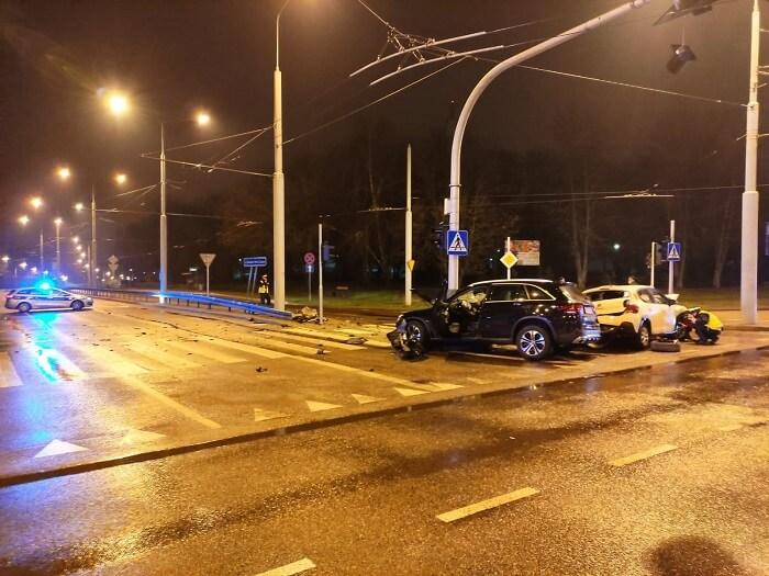 Nocny wypadek na al. Kraśnickiej w Lublinie