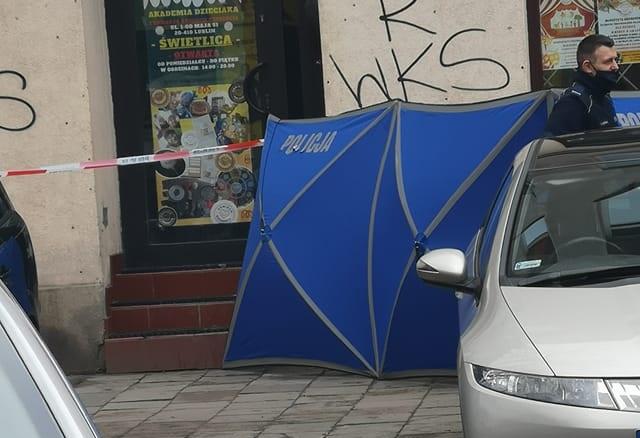 Mężczyzna zmarł na ul. 1 Maja w Lublinie