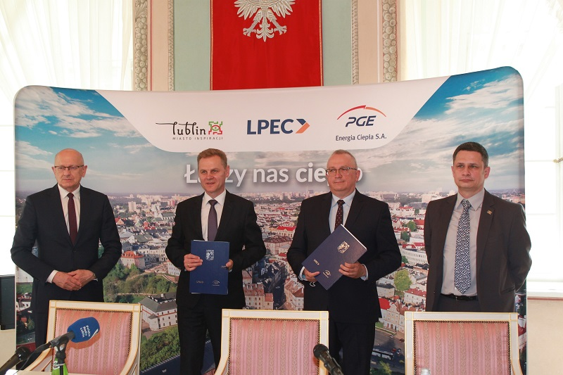 LPEC i PGE Energia Ciepła zawarły umowę wieloletnią na dostawy ciepła w Lublinie