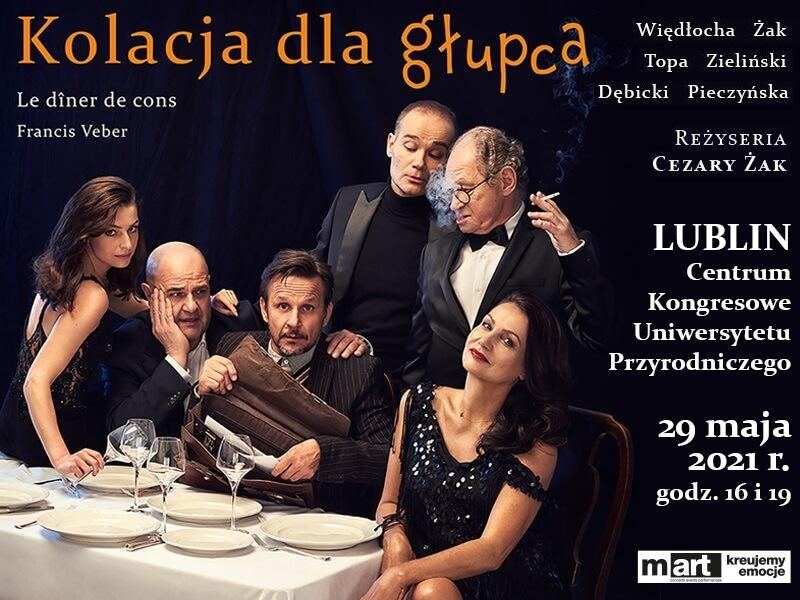 Spektakl Kolacja dla głupca już 29 maja w Lublinie