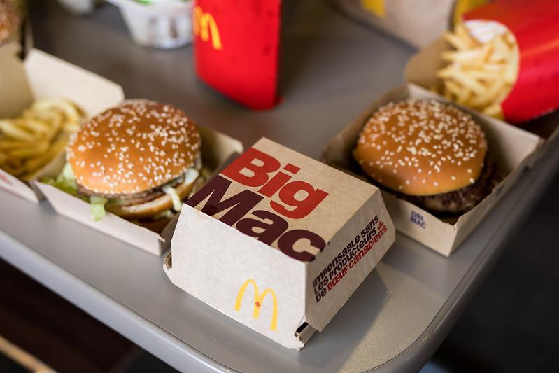 big mac frytki mcdonalds