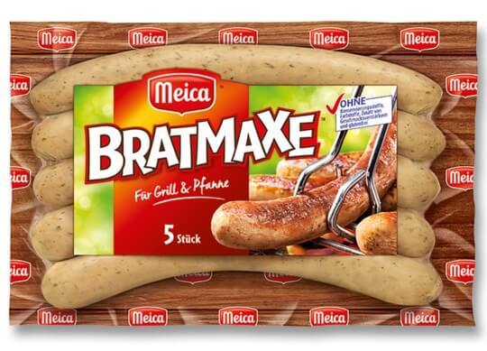 Kiełbaski marki Bratmaxe 5 sztuk, 313 g z Auchan wycofane ze sprzedaży