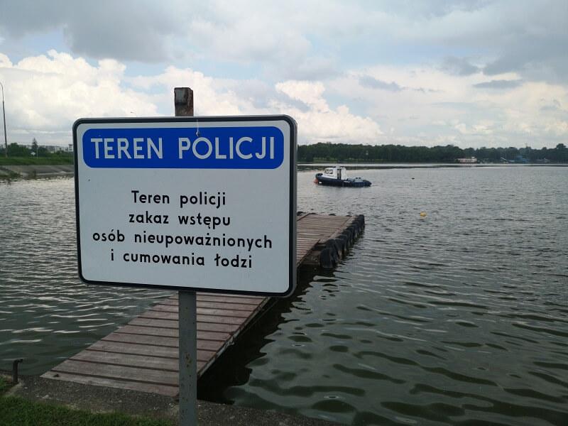 Wodny posterunek nad Zalewem Zemborzyckim