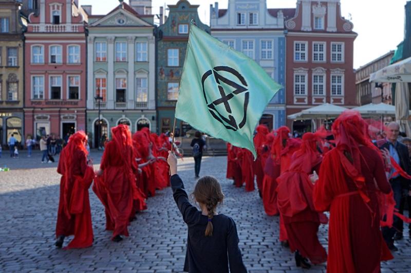 Marsz Czerwonych Wdów w Poznaniu