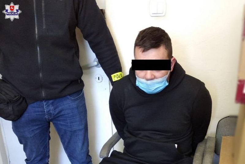 22-letni mieszkaniec Lublina potrącił policjanta na stacji Orlen w Elizówce