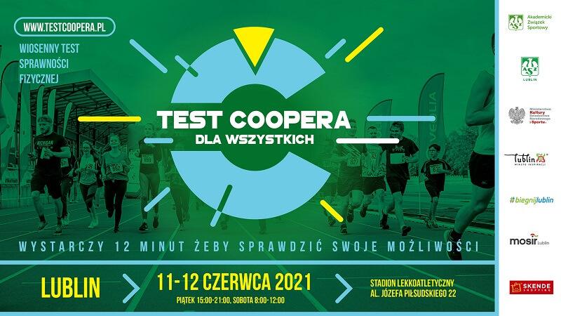 Test Coopera 11-12 czerwca 2021 r. na stadionie lekkoatletyczny w Lublinie