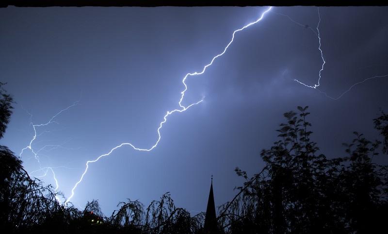 błyskawica wyładowanie piorun pogoda burza