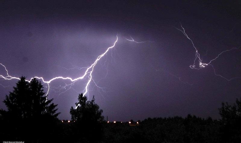 burza wyładowanie piorun