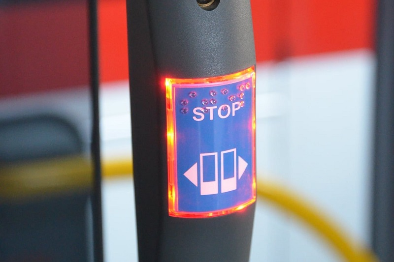 Ciepły guzik w autobusie