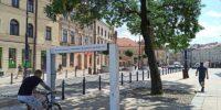 Kurtyna wodna zlokalizowana na placu Łokietka