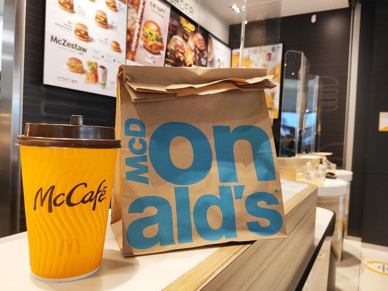 mcdonalds kawa jedzenie na wynos