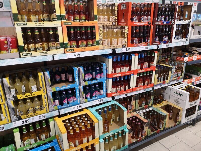 Promocja na piwo butelkowe w Lidlu