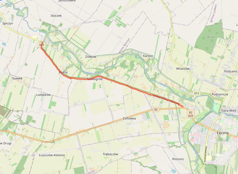 Remont drogi wojewódzkiej nr 829 na odcinku od m. Kijany do Łęcznej