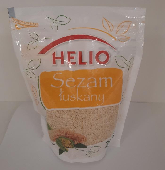 Sezam łuskany Helio wycofany z obrotu z powodu wykrycia bakterii Salmonelli