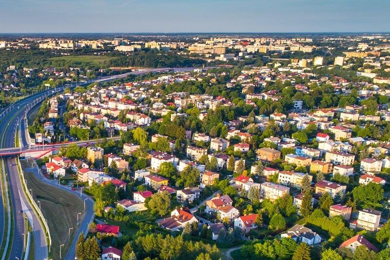 Lublin - zabudowa domów jednorodzinnych