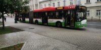 autobus przegubowy solaris linii 57
