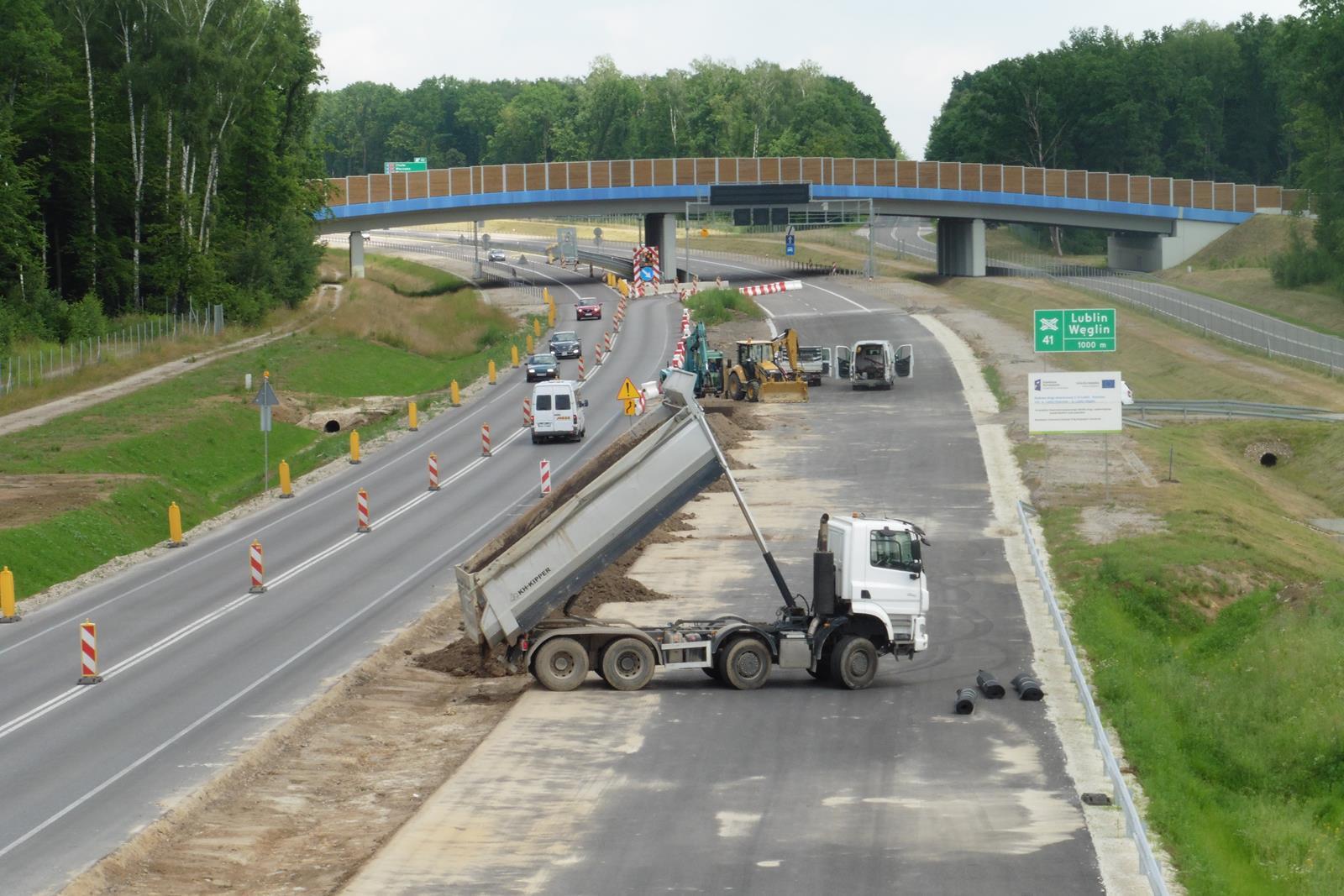 Budowa drogi ekspresowej S19 w Zemborzycach Tereszyńskich