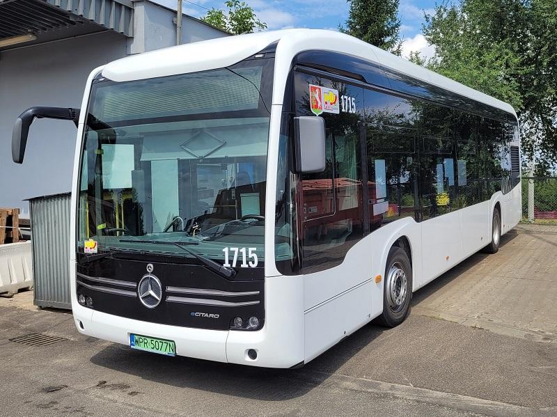 Elektryczny autobus Mercedes Benz eCitaro na testach w Lublinie