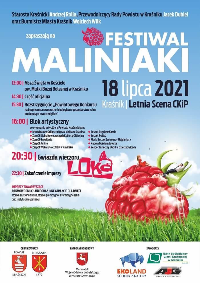 Festiwal MALINIAKI 2021 w Kraśniku