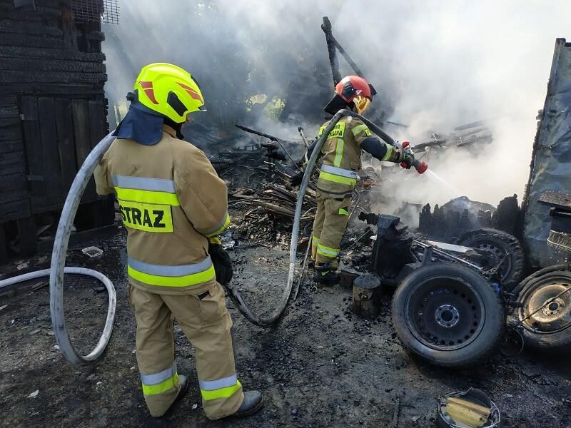 Pożar w Dysie pod Lublinem