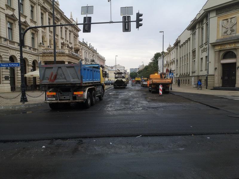 Remont nawierzchni ul. Krakowskie Przedmieście w Lublinie