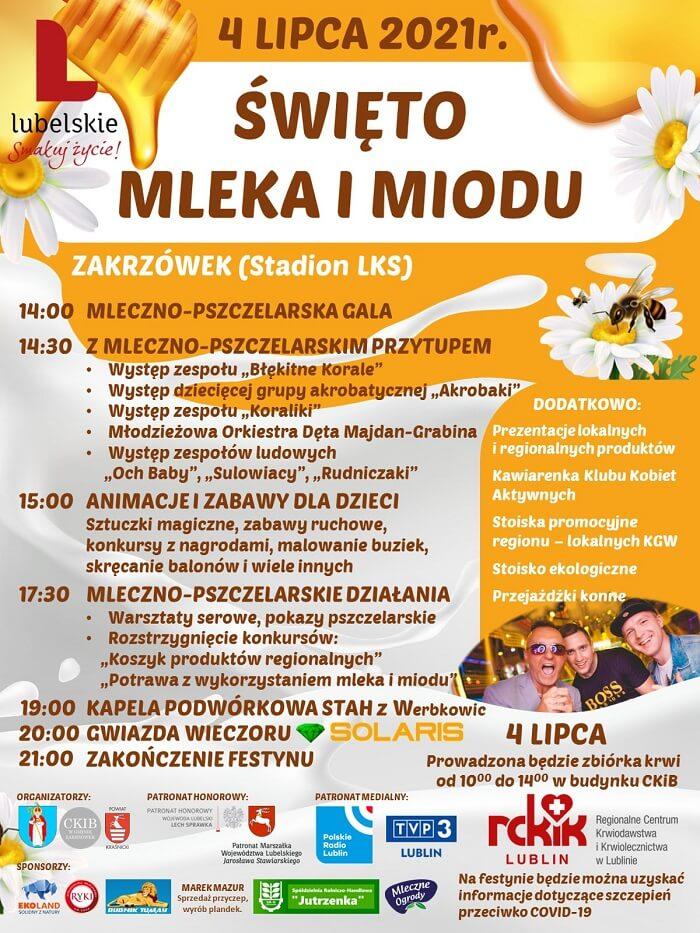 Święto Mleka i Miodu 2021 w Zakrzówku