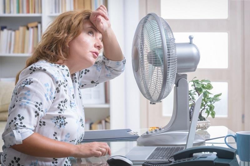 upał żar gorąco zmęczenie wentylator praca