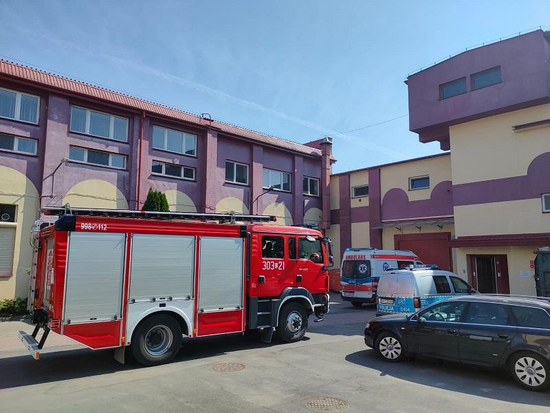 Wypadek na terenie zakładu produkcyjnego Colian w Lublinie