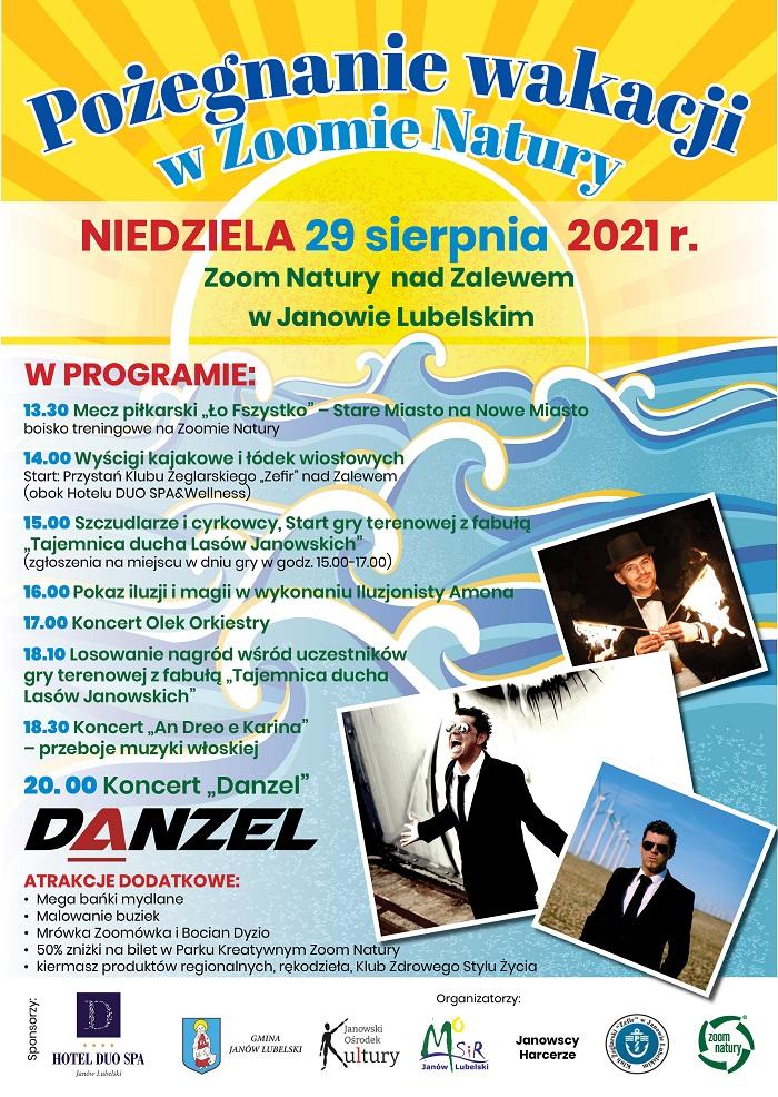 Danzel wystąpi nad zalewem w Janowie Lubelskim