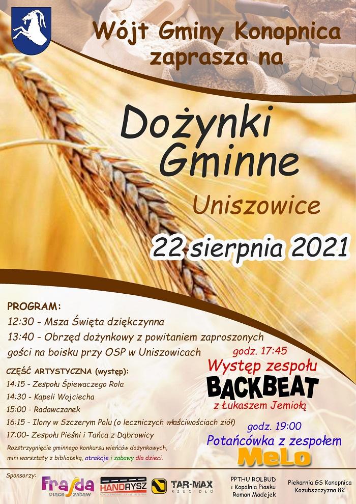 Dożynki Gminy Konopnica w Uniszowicach 2021
