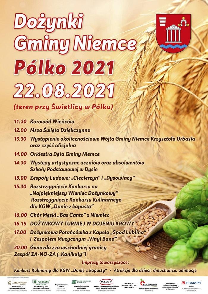 Dożynki Gminy Niemce w miejscowości Pólko 2021