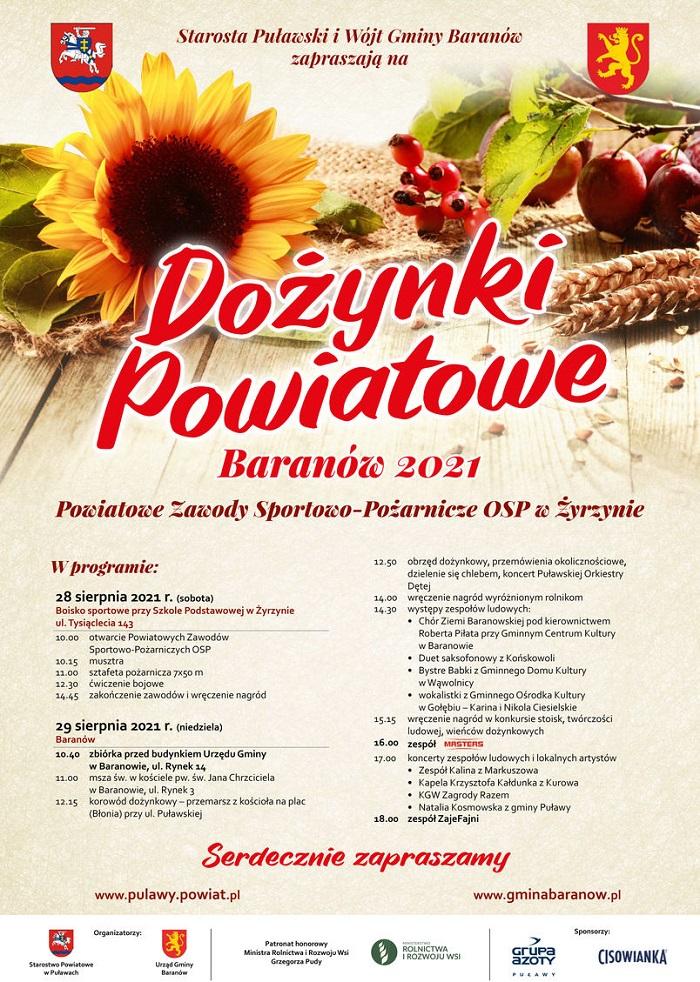 Dożynki Powiatowe Baranów 2021