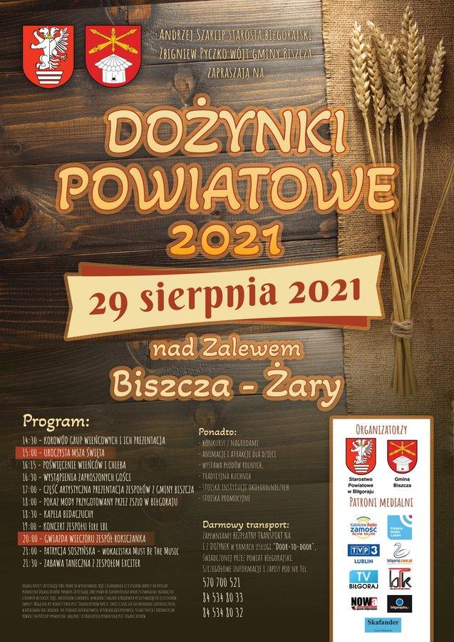 Dożynki Powiatowe Biszcza nad zalewem Biszcza - Żary 2021