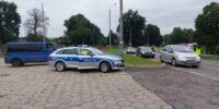 Kontrola trzeźwości kierowców na ul. Lubelskiej w Bychawie