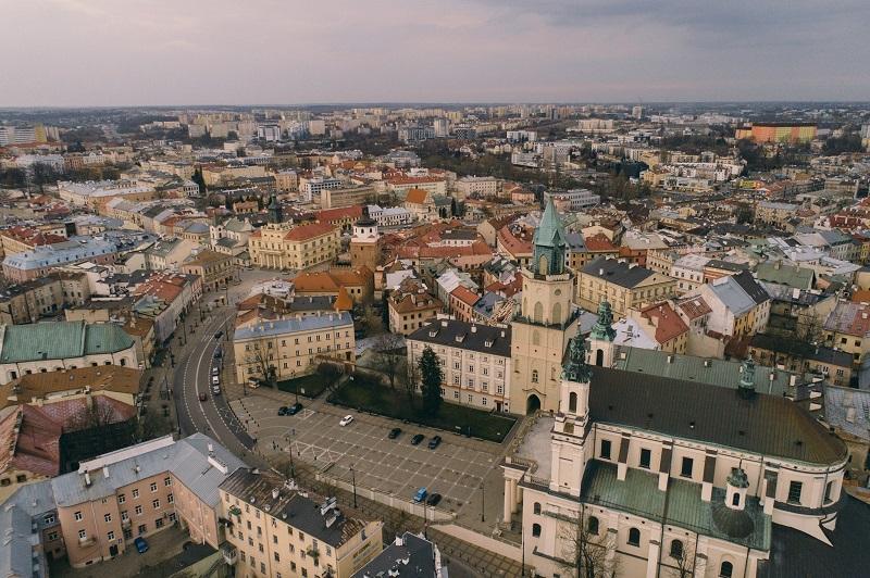 Panorama na Stare Miasto i Śródmieście w Lublinie