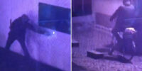 Policja publikuje nagranie z momentu podpalenia punktu szczepień w Zamościu