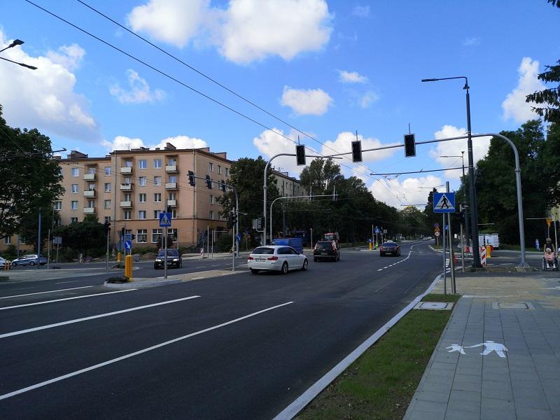 Przebudowane skrzyżowanie ul. Sowińskiego, Al. Racławickie i ul. Poniatowskiego